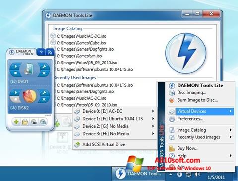 Screenshot DAEMON Tools Lite untuk Windows 10