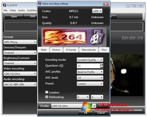 Screenshot XviD4PSP untuk Windows 10