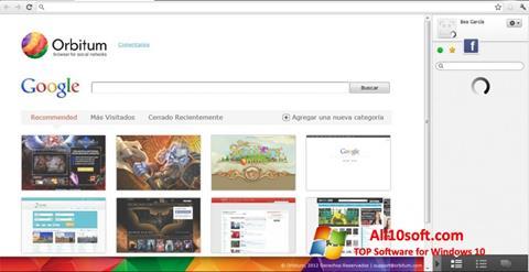 Screenshot Orbitum untuk Windows 10