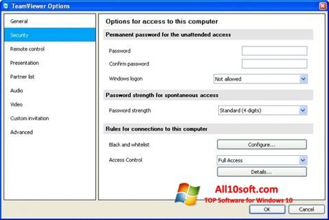 Screenshot TeamViewer untuk Windows 10