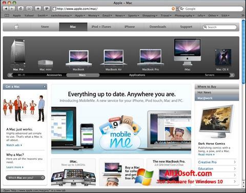 Screenshot Safari untuk Windows 10