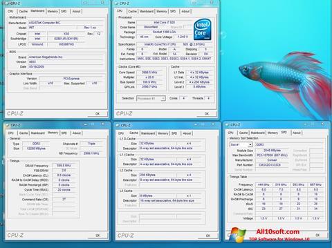 Screenshot CPU-Z untuk Windows 10