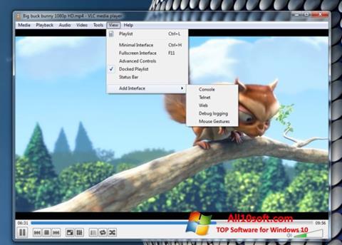 Screenshot VLC Media Player untuk Windows 10