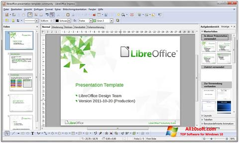 Screenshot LibreOffice untuk Windows 10
