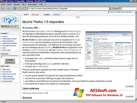 Screenshot Mozilla Firefox untuk Windows 10
