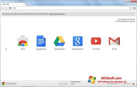 Screenshot Google Chrome untuk Windows 10