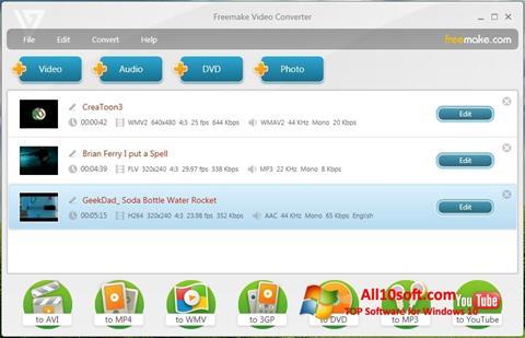 Screenshot Freemake Video Converter untuk Windows 10