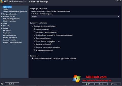 Screenshot AVG untuk Windows 10