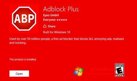 Screenshot Adblock Plus untuk Windows 10